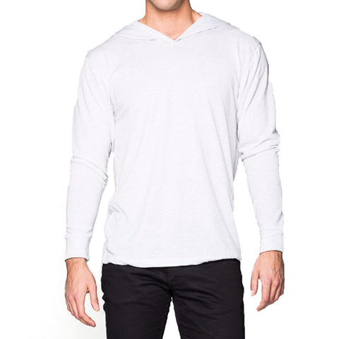 THREAD SOCIETY Triblend Hoodie Men | Heather White