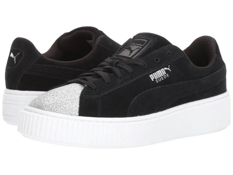 PUMA Suede Platfrom Glam Youth | Silver / Black (364921-03)