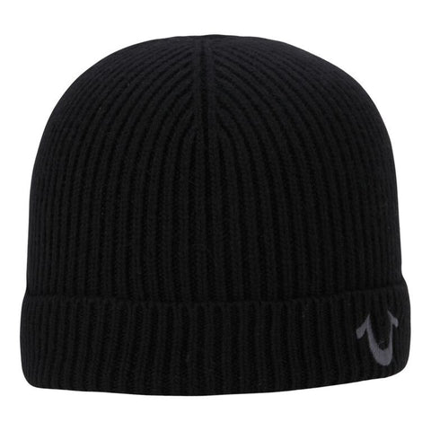 TRUE RELIGION Ribbed Knit Watchcap | Black / Grey (TR1828)