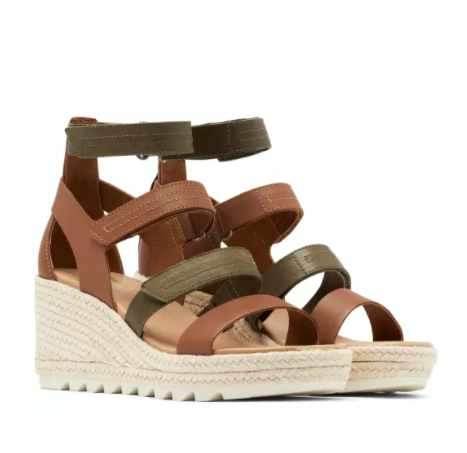 SOREL Cameron Wedge Multi Strap Women | Velvet Tan (1936571242)