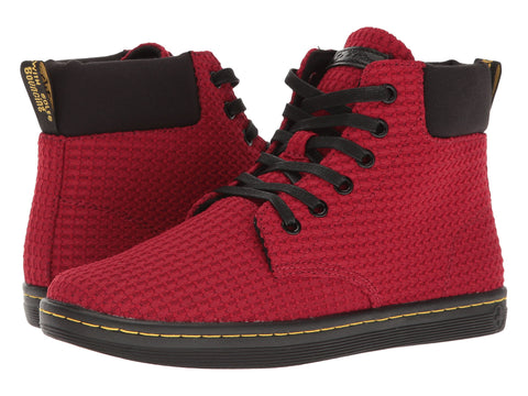 DR. MARTENS Maelly WC Waffle Cotton+Fine Canvas Women | Dark Red/Black (22057608)