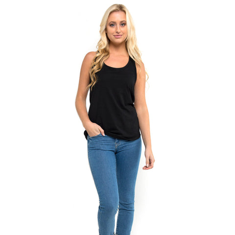 THREAD SOCIETY Comfy Racerback Tank Top Women | Black