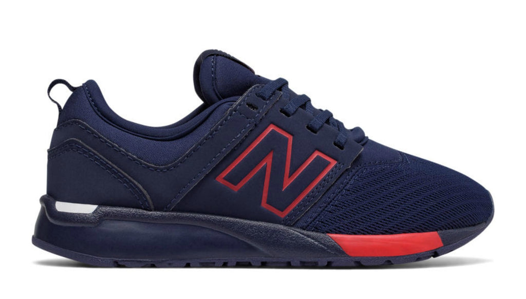 NEW BALANCE 247 Sneaker Kids | Navy / Red (KL247NR)