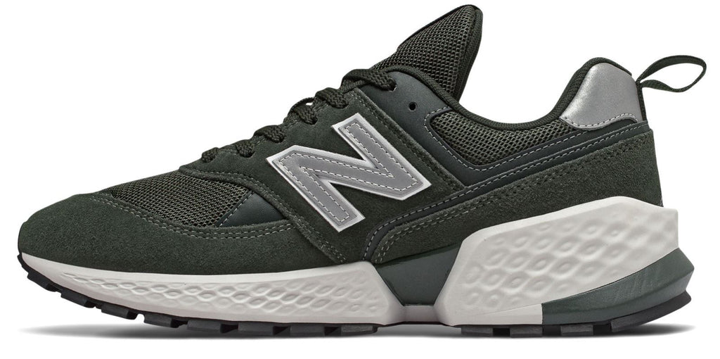 NEW BALANCE 574 Sport Men | Rifle Green with Silver Metallic (MS574ACM)