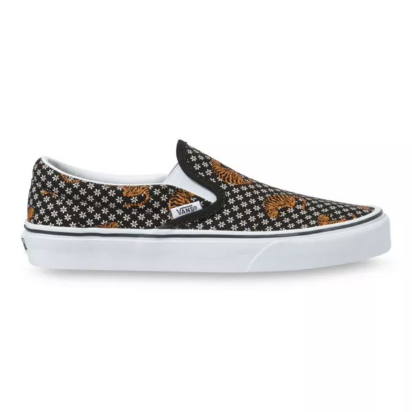 VANS Tiger Floral Classic Slip-on Unisex | Black/True White (VN0A4U3819M)