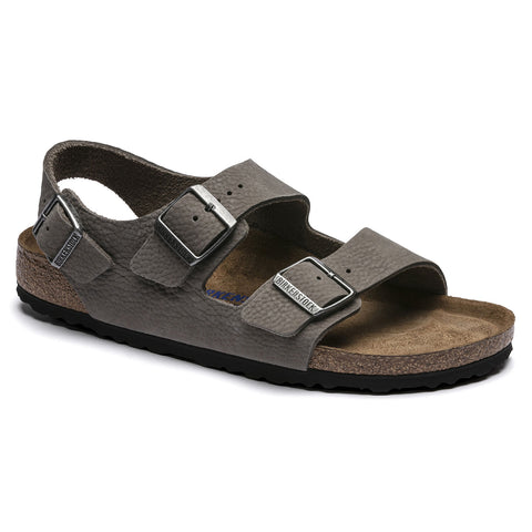 BIRKENSTOCK Milano SoftFoot Bed Men | Soft Whale Gray (1017445)