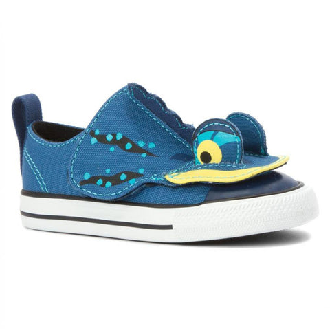 CONVERSE Chuck Taylor Creatures Ox Infant | Ocean / Midnight Hour / Black (747621F)