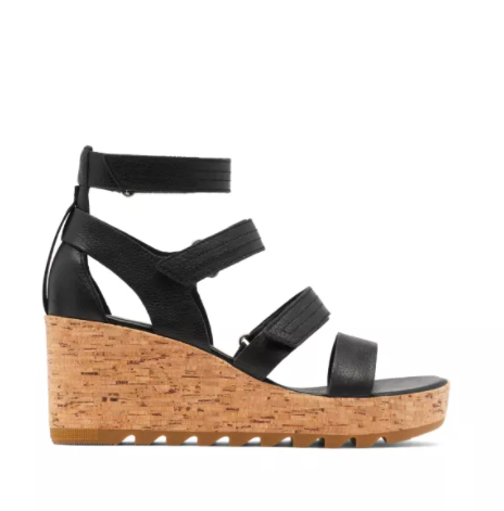 SOREL Cameron Wedge Multi Strap Women Black (1943691010)