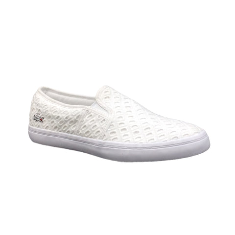 LACOSTE Gazon 219 1 CFA CNV Women | White / White (7-37CFA001421G)
