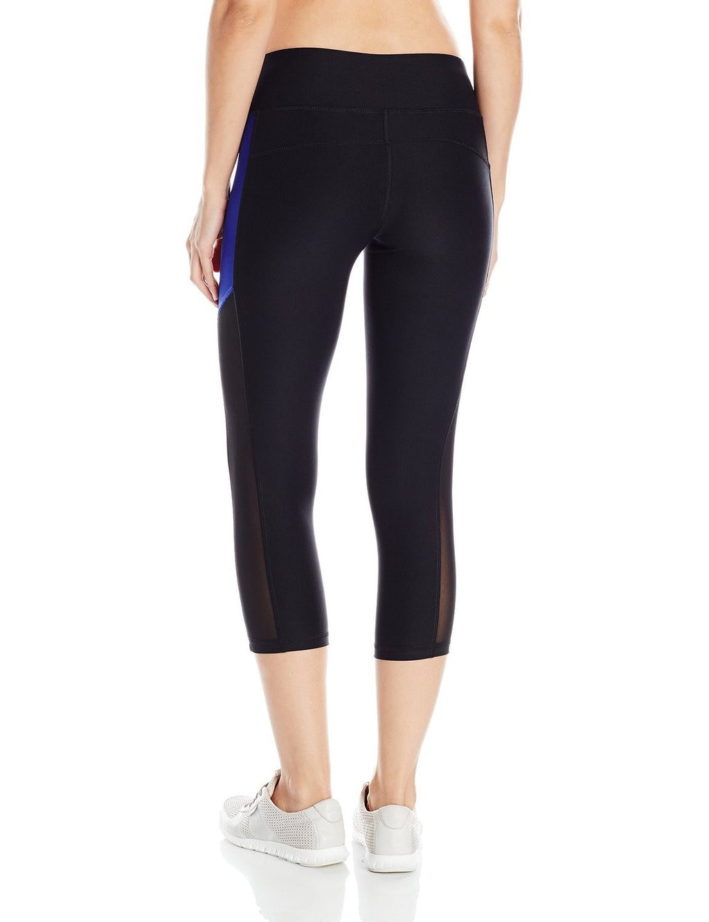 X BY GOTTEX Color Block Mesh Capri Women | Black/Cobalt Blue