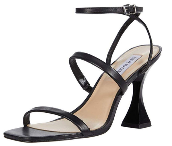 Save $61.90 On The STEVE MADDEN Scorpius Women's Heeled Sandal In Black Leather