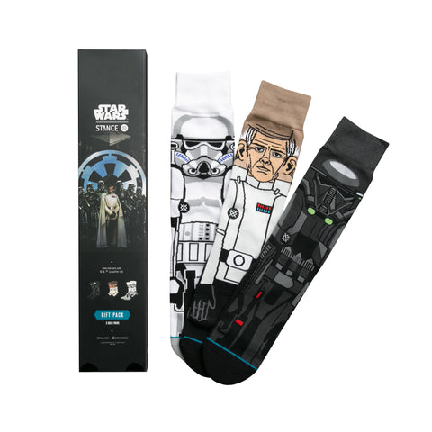 STANCE Rogue One Sock Gift Set Men | Black (M545D16ROG) (Large)
