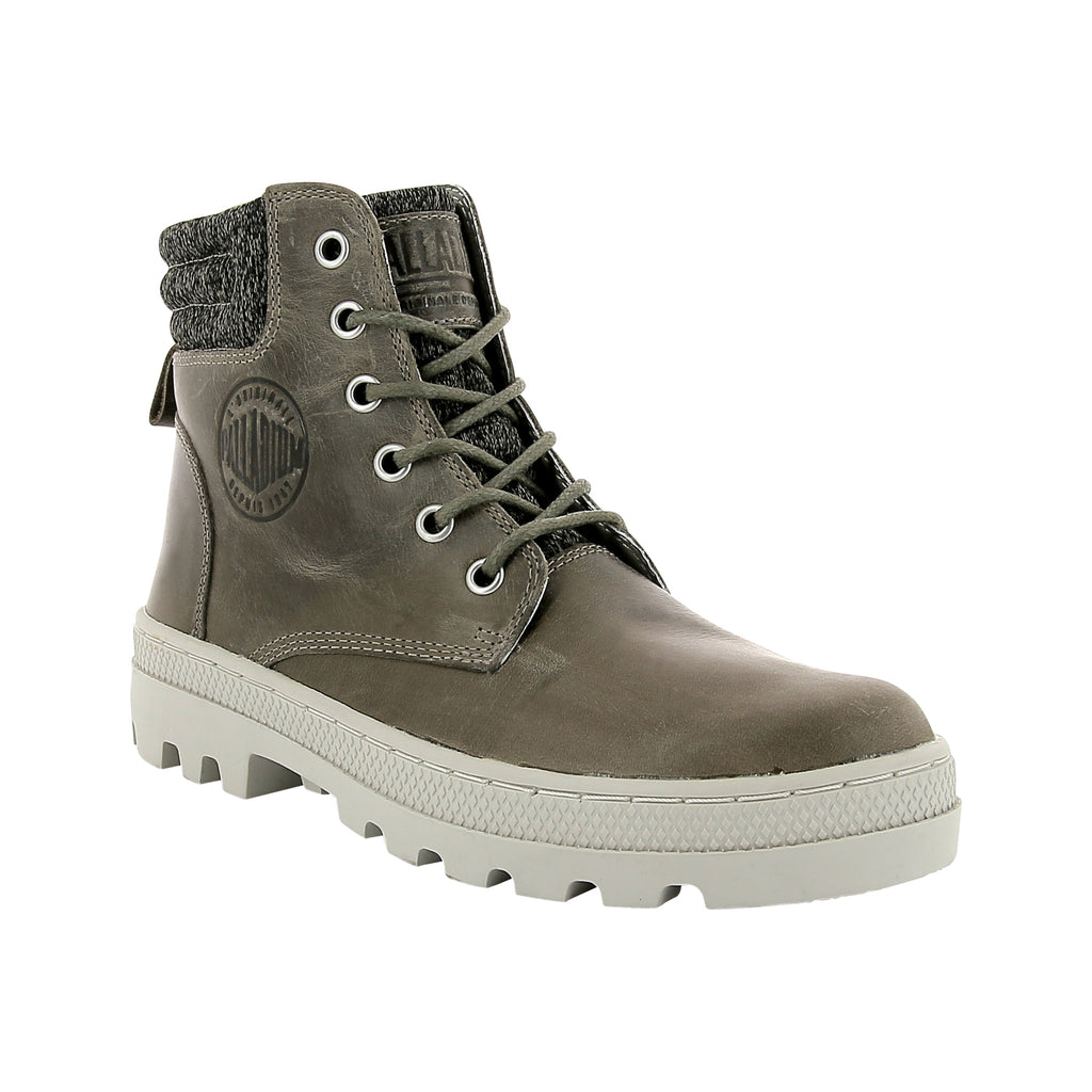 PALLADIUM Pallabosse Hi Cuff L Women | Fallen Rock / Rainy Day (95522-369-M)