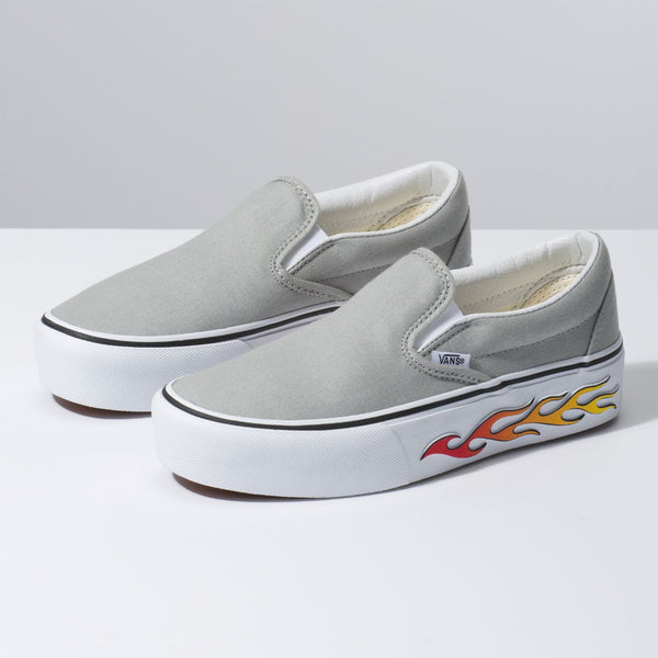 VANS Sidewall Flame Slip-On Platform Women | Belgian Block (VN0A3JEZVN5)