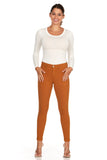 ELITE JEANS Mid Rise Active Stretch Push Up Skinny Jeans Women | Mustard (AP18308-12)