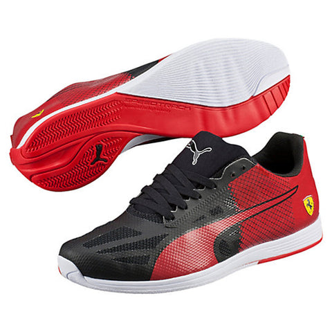 PUMA Ferrari evoSPEED Sock Men | Black / Rosso Corsa (305820-01)