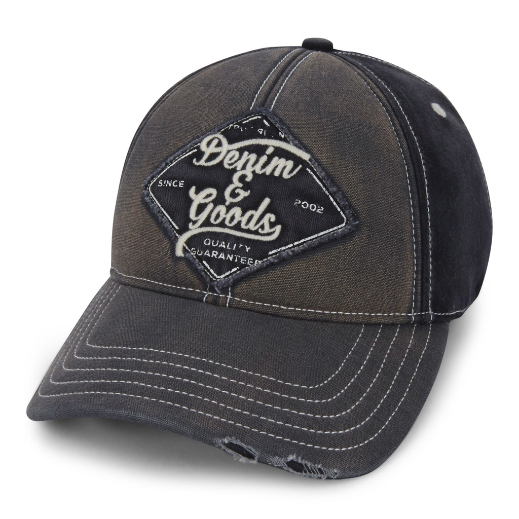TRUE RELIGION Denim & Goods Baseball Cap | Black (TR2310)