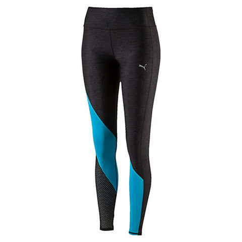 PUMA Explosive Tights Women | Dark Grey Heather / Blue Atoll (515116-04)
