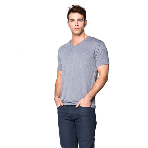 THREAD SOCIETY Comfy V Neck T-Shirt Men | Heather Grey