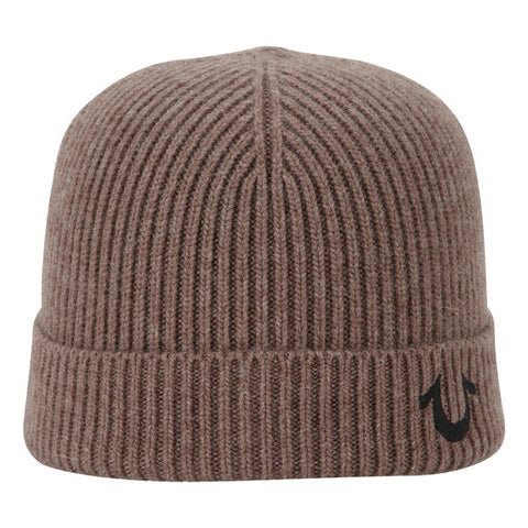 TRUE RELIGION Ribbed Knit Watchcap | Mud