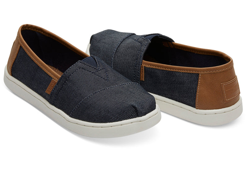 TOMS Navy Heavy Denim Classic Youth | Navy (10013610)