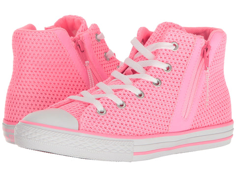 CONVERSE Chuck Taylor Sport Zip Hi Youth | Pink Glow / Neon Pink / Light Pink
