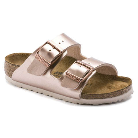 BIRKENSTOCK Arizona Birko-Flor Kids | Electric Metallic Copper (1012478)