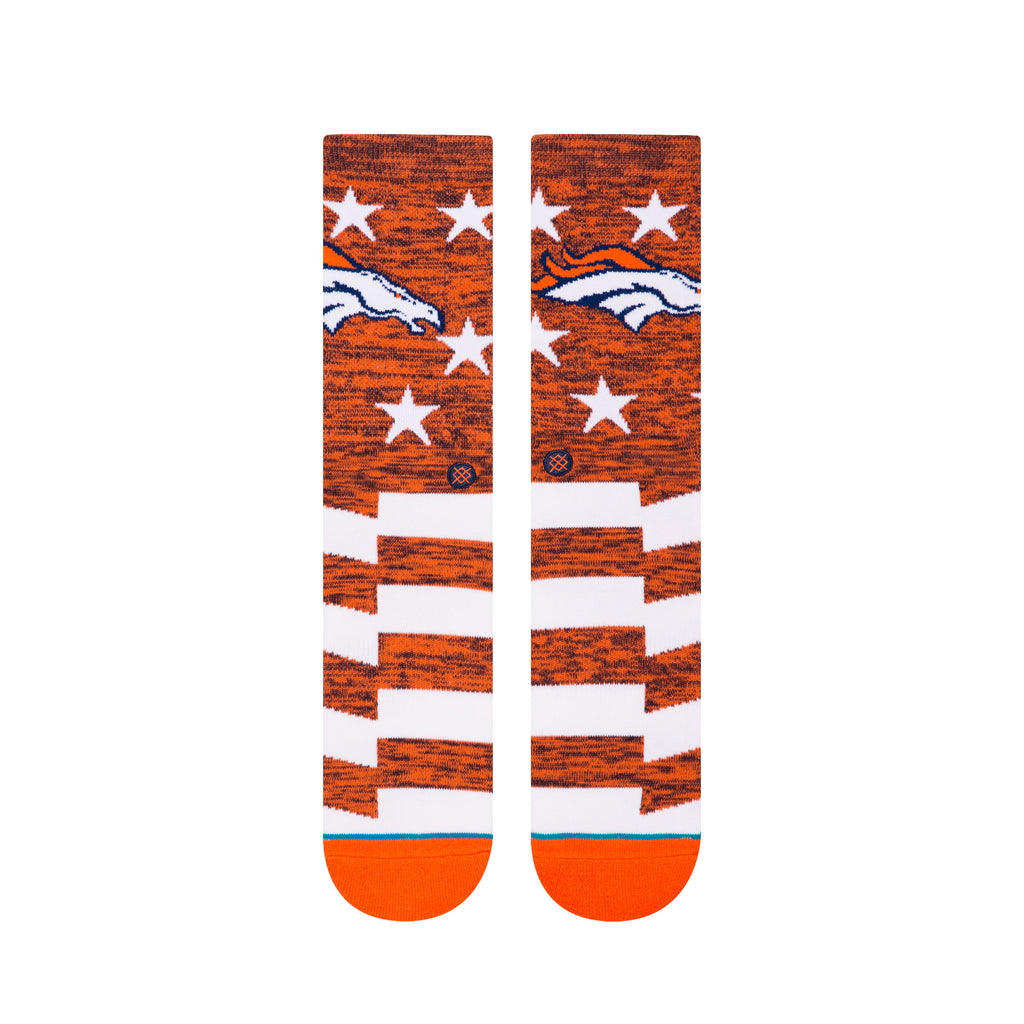 STANCE Broncos Banner Socks Men | Orange (M558C18BRB) (Large)