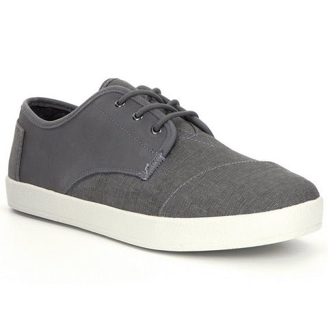 TOMS Leather / Washed Canvas Paseo Men | Dark Grey (10008099)
