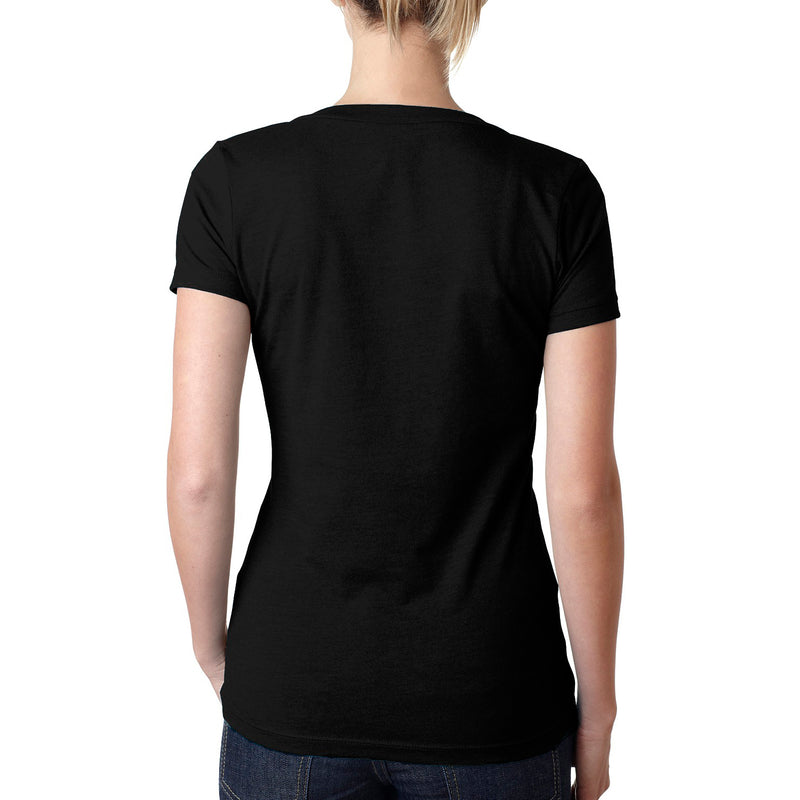 THREAD SOCIETY Deep V Neck T-Shirt Women | Black