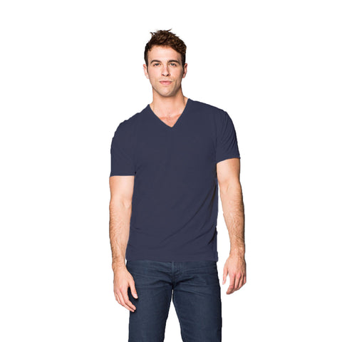 THREAD SOCIETY Comfy V Neck T-Shirt Men | Navy