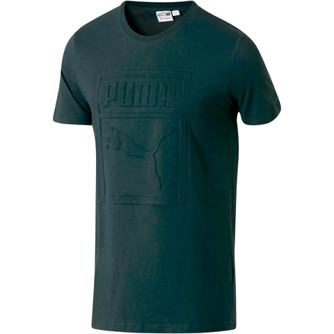 PUMA Archive Embossed Logo Tee Men | Green (574507-32)
