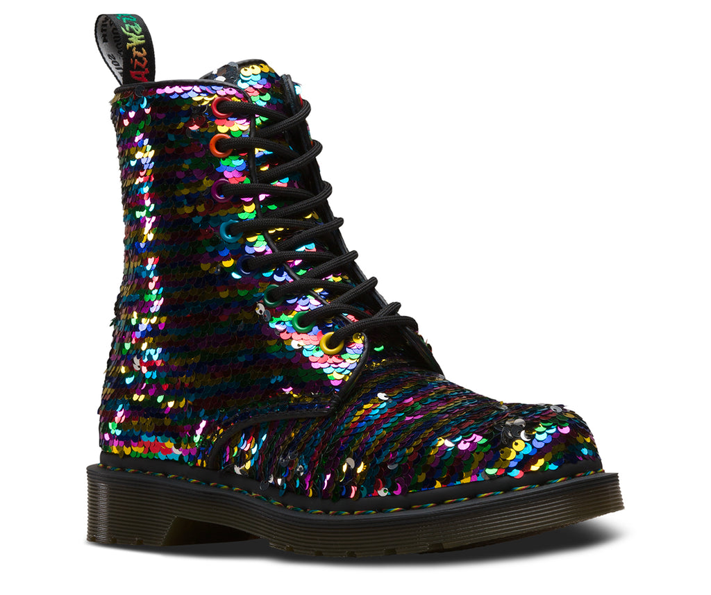 DR.MARTENS 1460 Pascal Sequin Women | Rainbow Multi (24594980)