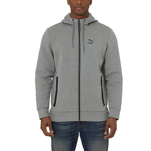 PUMA Evo Fullzip Hoodie Men | Grey Heather (570572-03)