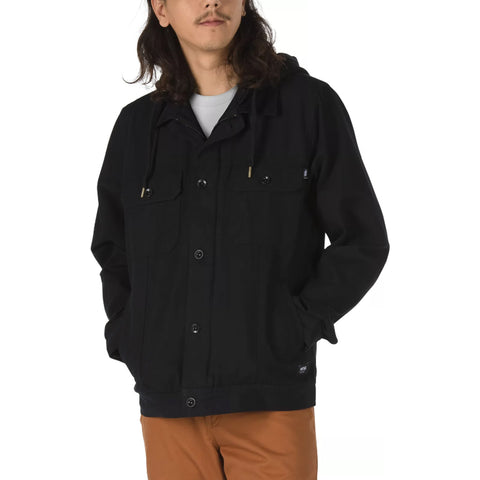 VANS Precept Hoodie Trucker Jacket Men | Black (VN0A4RQJBLK)