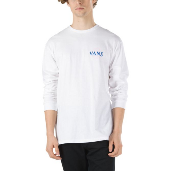 VANS Pillars Long Sleeve T-Shirt Men | White