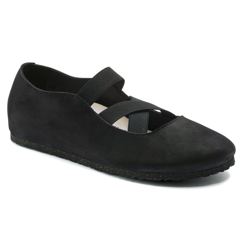 BIRKENSTOCK Santa Ana Nubuck Leather Women | Black (1016311)