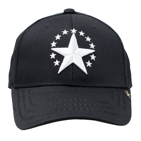 GOLD STAR White Star Trucker Hat | Black