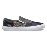 VANS Denim Patchwork Slip-On Unisex | Navy/True White (8F7MOY)