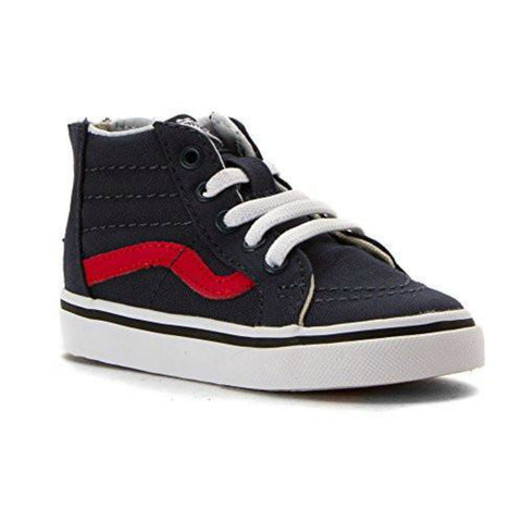 VANS Sk8-Hi Zip Varsity Toddler | Navy / True White (XG5JSM)