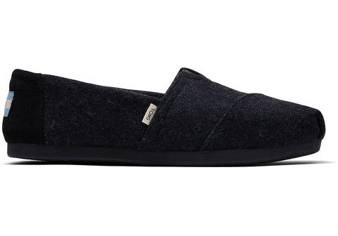 TOMS Felt Faux Shearling Women | Black (10014385)