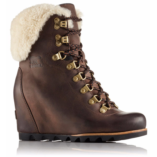 SOREL Conquest Wedge Shearling Women | Tobacco / Black (1759071)