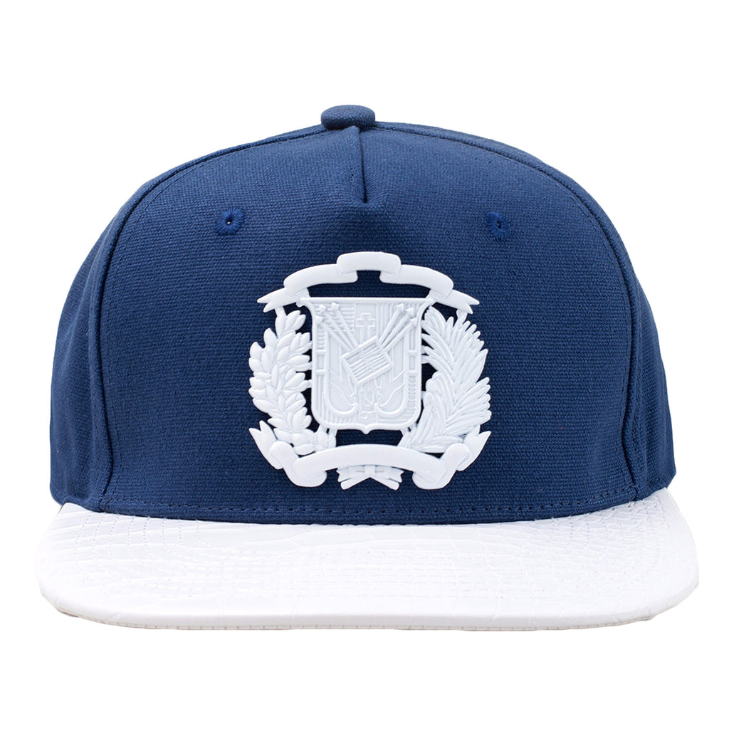 GOLD STAR Dominican Republic Shield Hat | White