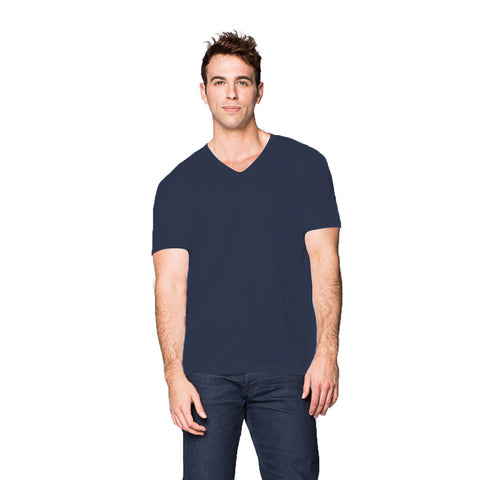 THREAD SOCIETY Basic V Neck T-Shirt Men | Indigo