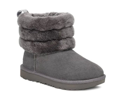 UGG Fluff Mini Quilted Toddler | Charcoal (1103612T)