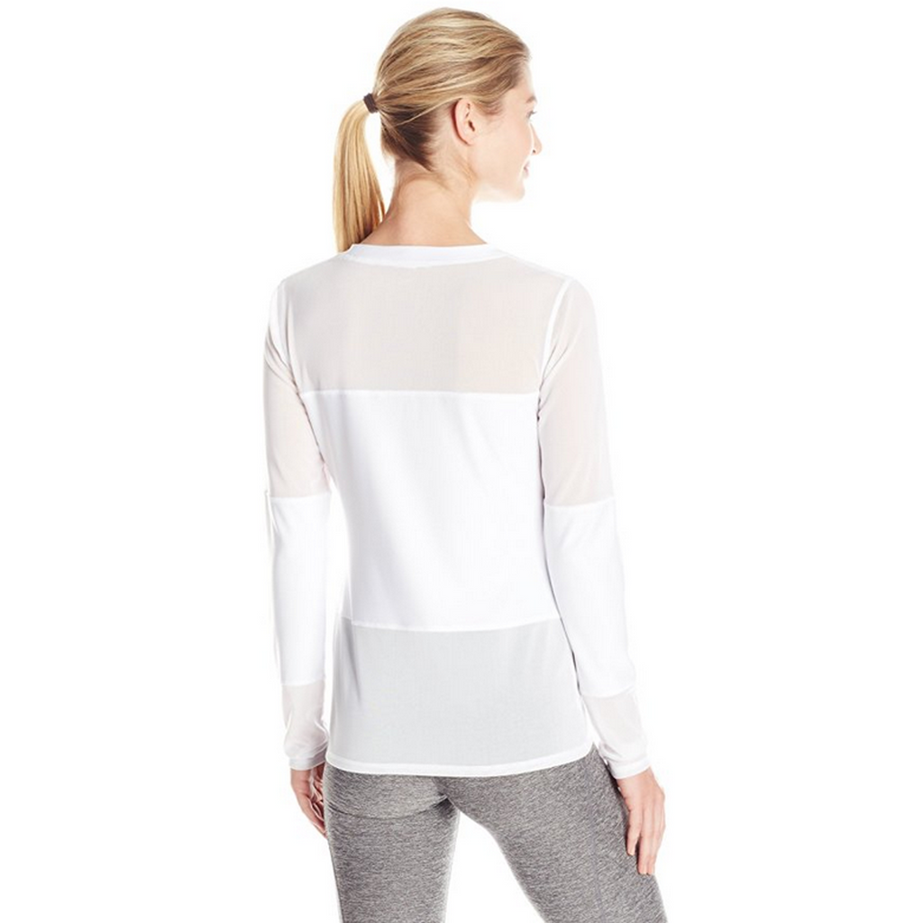 X BY GOTTEX Solid Panel Long Sleeve Top Women | White