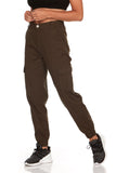 ELITE JEANS High Rise Loose Cargo Joggers Women | Olive (P20048-06)