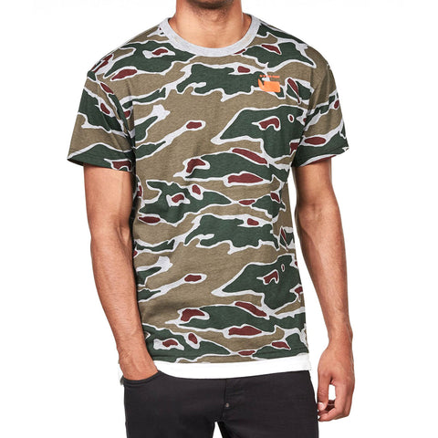 G-STAR RAW Sverre T-Shirt Men | Grey Heather / Dark Vermont Green Ao (D09825-A268-9789)