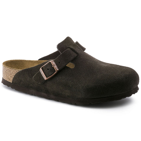 BIRKENSTOCK Boston Suede SoftFootbed Unisex | Mocha (660461)