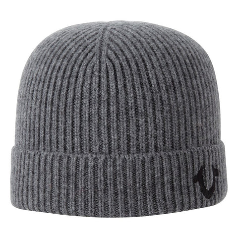 TRUE RELIGION Ribbed Knit Watchcap | Factory Grey (TR1828)